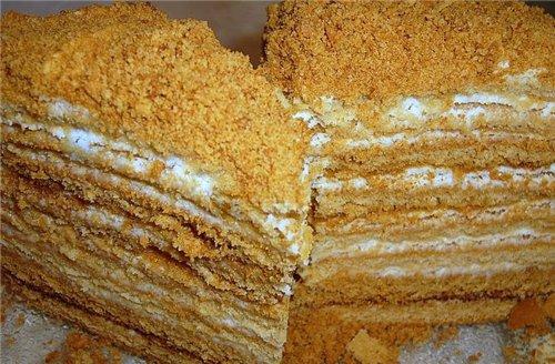 Торт «Медовый со сметанно-сливочным кремом»