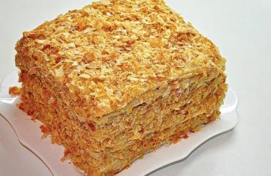 Многослойный торт с заварным кремом