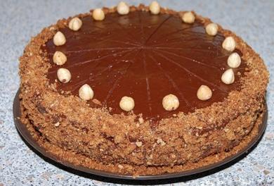 Торт «Кофейный с шоколадно-ореховым кремом»