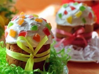 Кулич пасхальный на сухих дрожжах с изюмом и апельсиновыми цукатами