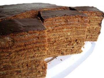Торт «Медово-шоколадный с грецкими орехами»
