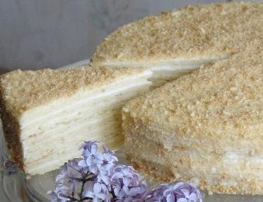 Торт «Сметанный» (многослойный)