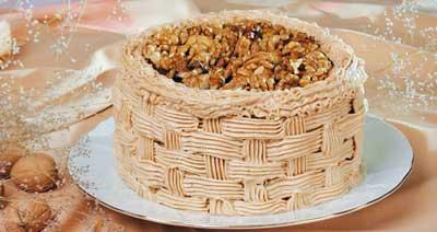 Торт «Корзина с орехами»