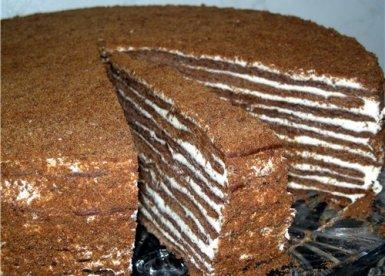 Торт «Шоколадно-медовый с воздушным заварным кремом»