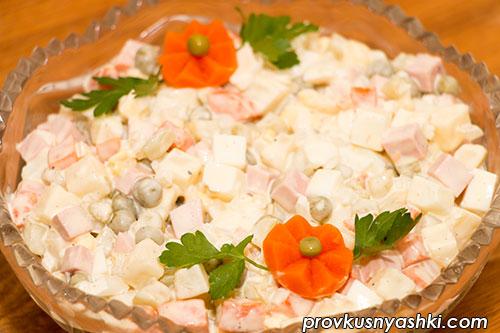 Салат «Оливье Классический» с колбасой