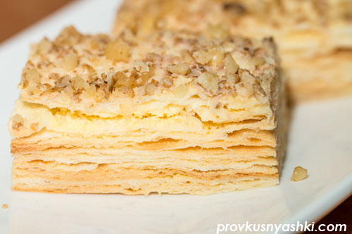 Торт «Наполеон» на пиве с яично-сливочным заварным кремом