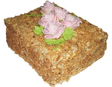 Торт «Наполеон фруктовый» с заварным кремом