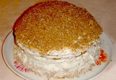 Торт «Па-де-труа» с тремя начинками и сметанным кремом